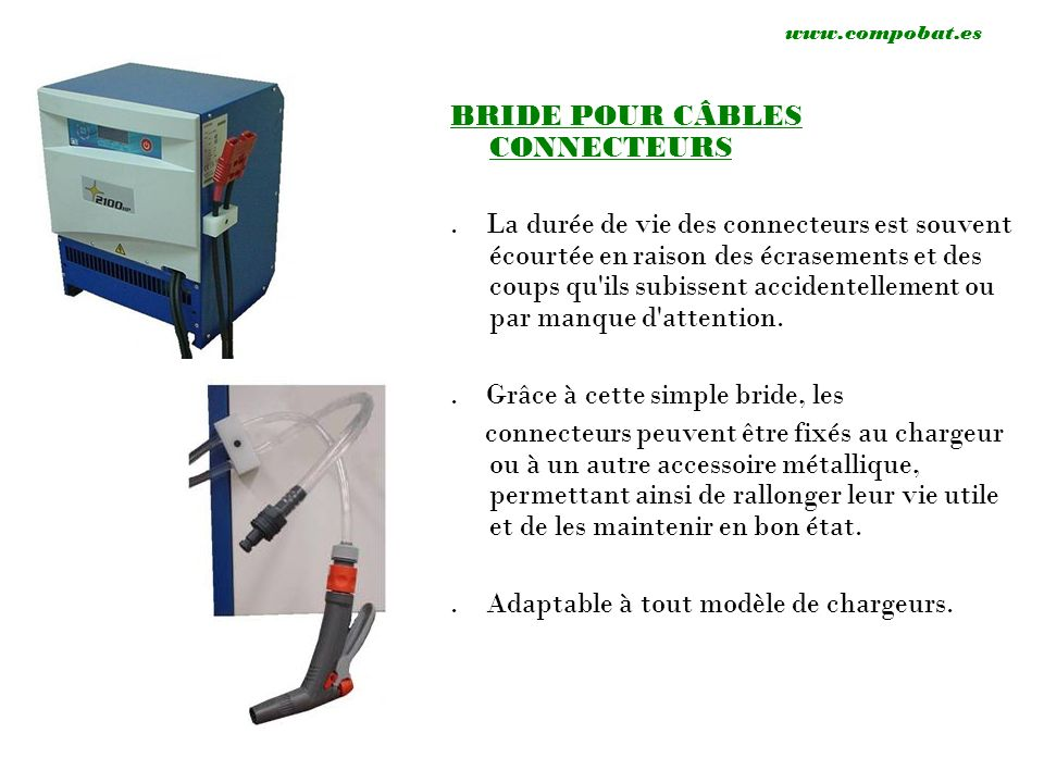 EXTRACTEURS MANUEL DE BATTERIES Grâce à ce simple accessoire, vous pourrez extraire ou introduire la batterie dans votre machine manuellement et sans effort.