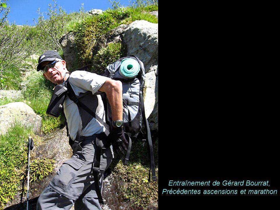K A B U L Entraînement de Gérard Bourrat, Précédentes ascensions et marathon