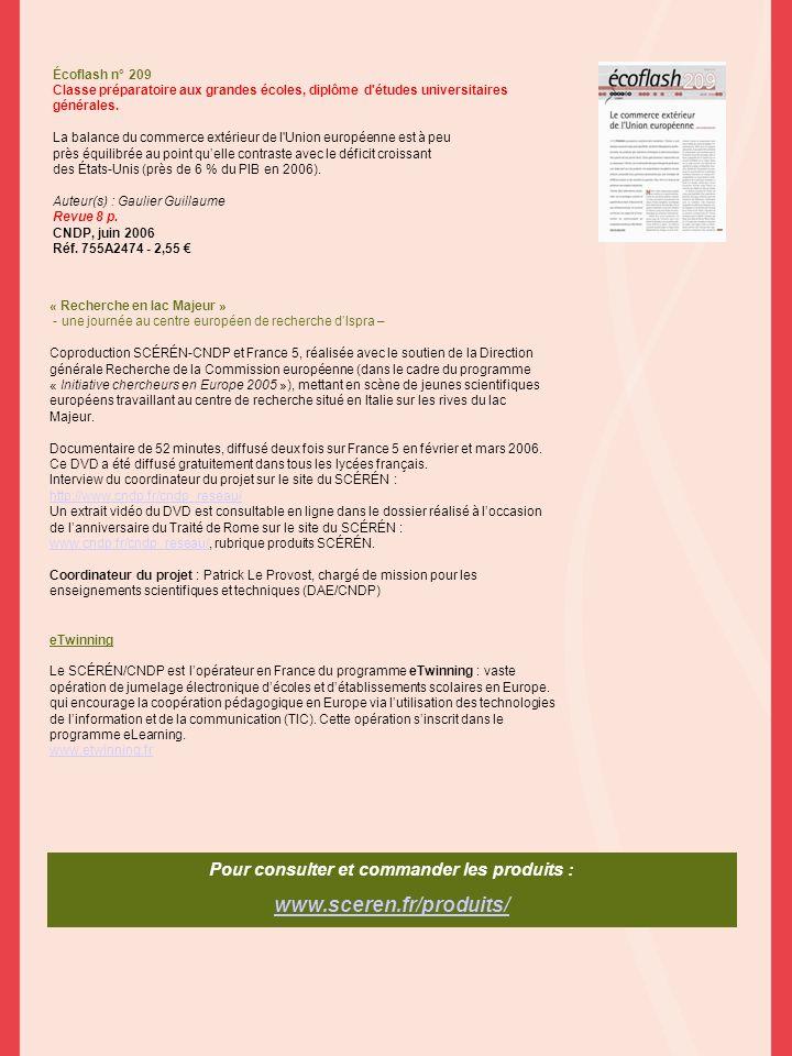 Écoflash n° 209 Classe préparatoire aux grandes écoles, diplôme d'études universitaires générales. La balance du commerce extérieur de l'Union europée