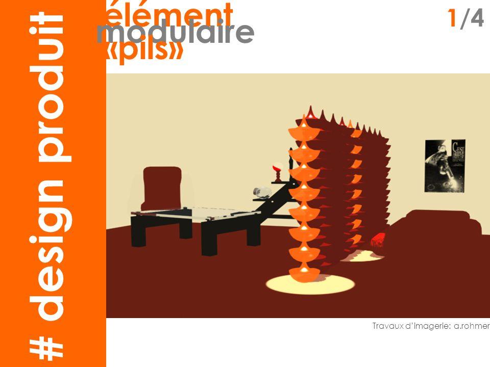 claustra1 élément 2/4 modulaire «pils» Conception&modélisation: m.souvignet&a.rohmer Inspiration : mosaïque de Verner Panton (décoration murale, 1975) # design produit