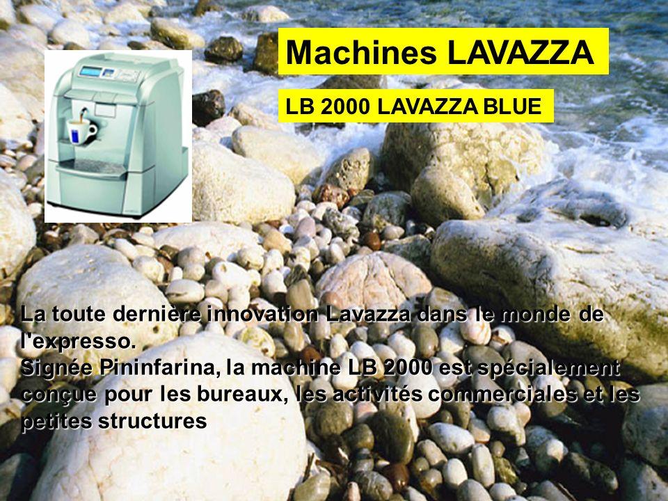 La toute dernière innovation Lavazza dans le monde de l'expresso. Signée Pininfarina, la machine LB 2000 est spécialement conçue pour les bureaux, les