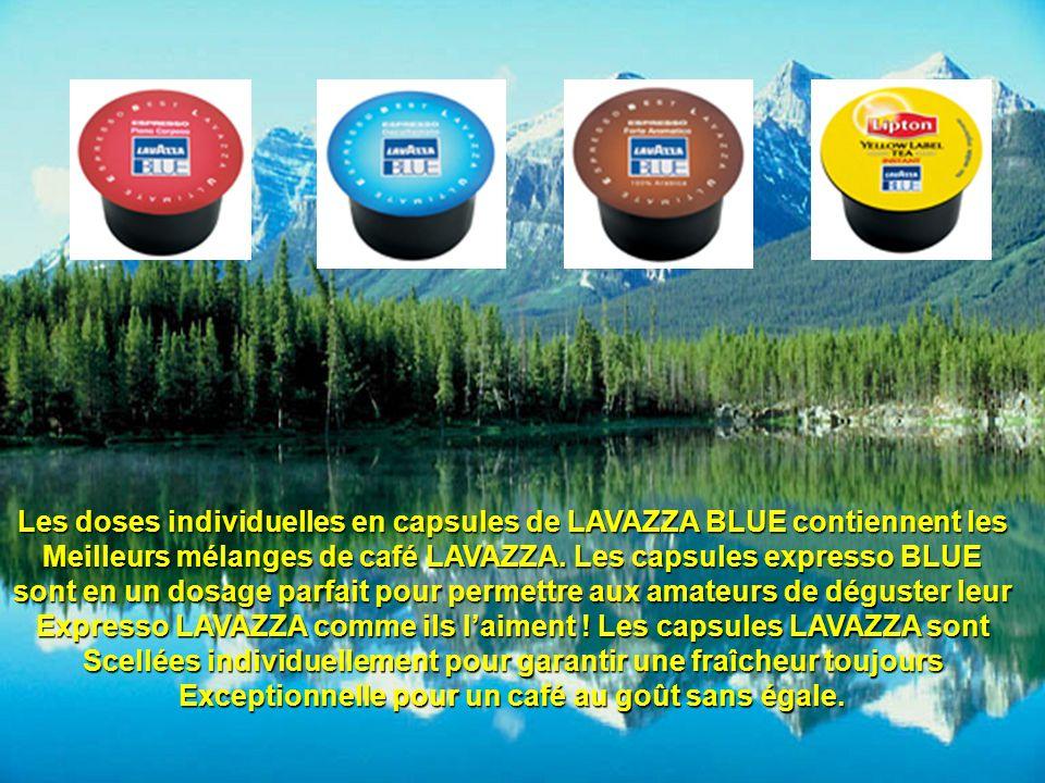 Les doses individuelles en capsules de LAVAZZA BLUE contiennent les Meilleurs mélanges de café LAVAZZA. Les capsules expresso BLUE sont en un dosage p