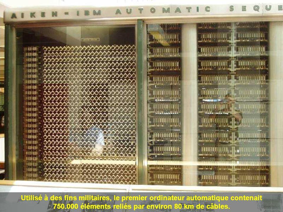 En 1943, IBM construit pour la Marine Américaine le Mark 1, totalement électromécanique (17 m.