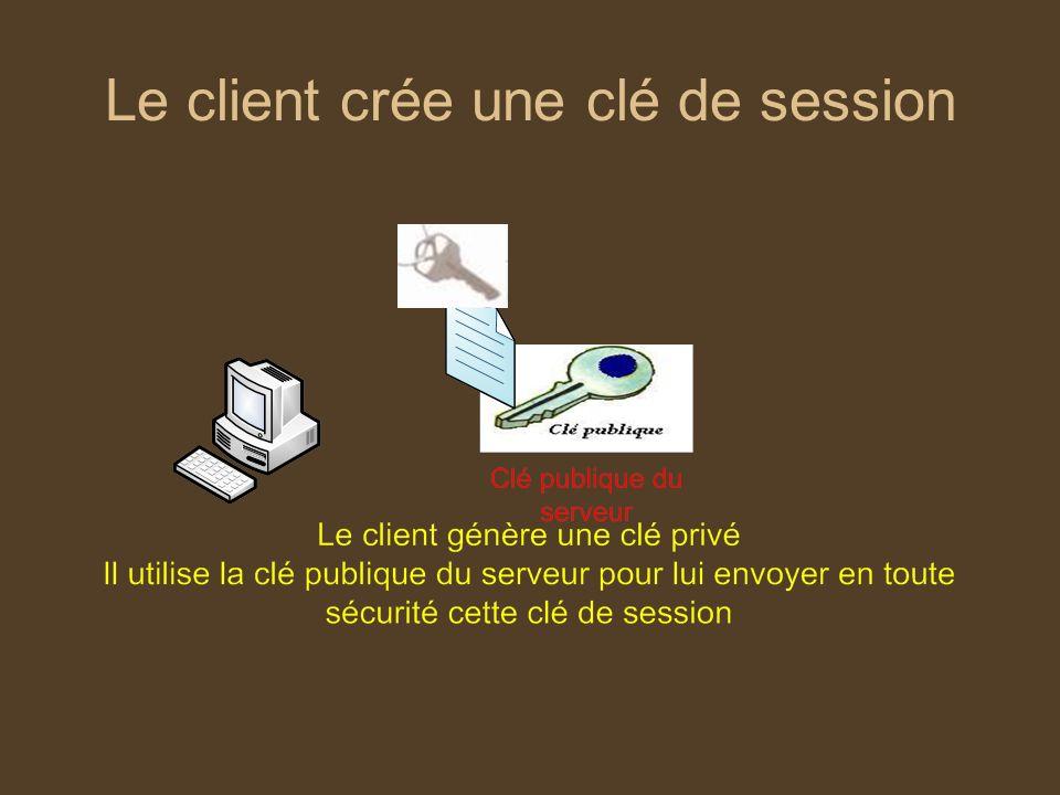 Le client crée une clé de session