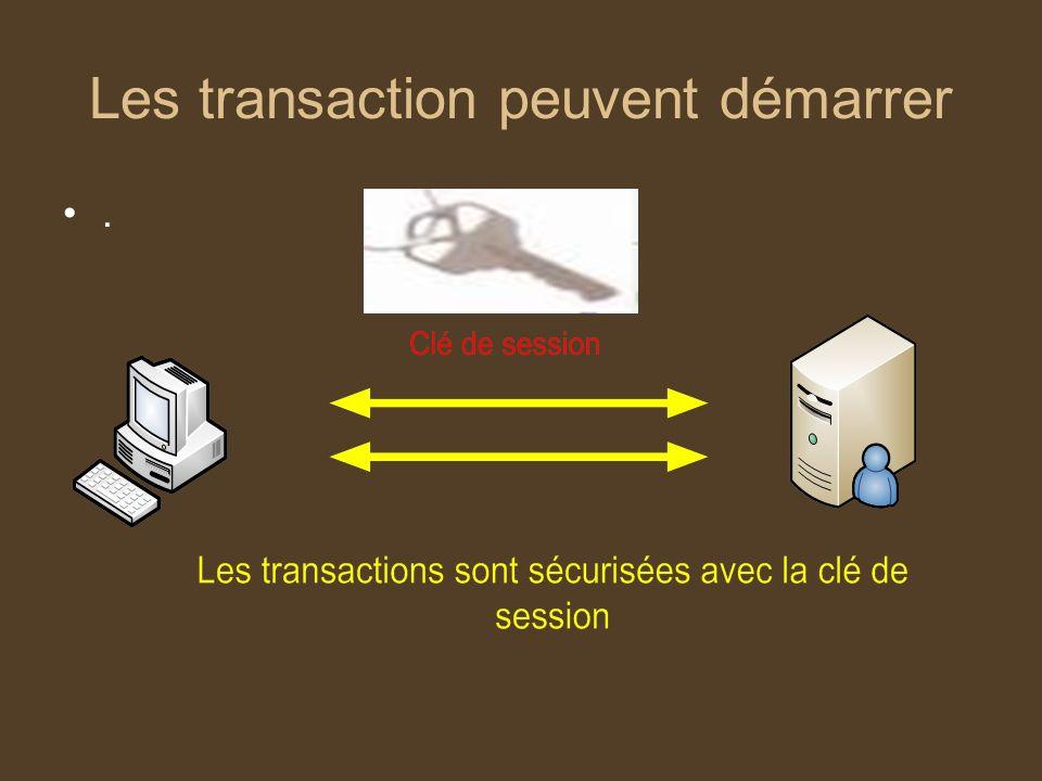 Les transaction peuvent démarrer.