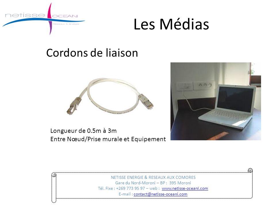 Les Médias Cordons de liaison NETISSE ENERGIE & RESEAUX AUX COMORES Gare du Nord-Moroni – BP : 395 Moroni Tél. Fixe : +269 773 95 97 – web : www.netis