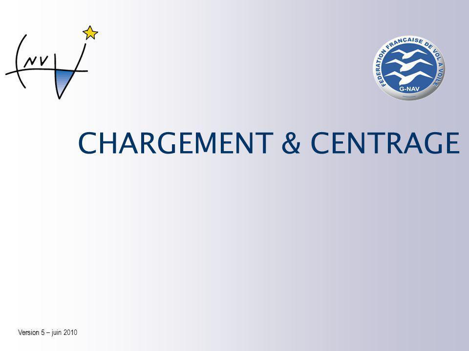 CHARGEMENT & CENTRAGE Version 5 Version 5 – juin 2010