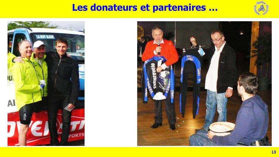 13 Les donateurs et partenaires …