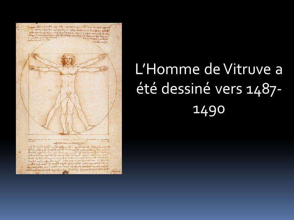 LHomme de Vitruve a été dessiné vers 1487- 1490