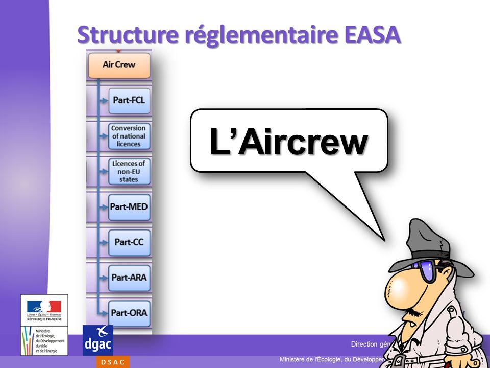 22 Ministère de l'Écologie, du Développement durable, et de lÉnergie Direction générale de lAviation civile D S A C Présentation Aircrew LAircrewLAirc