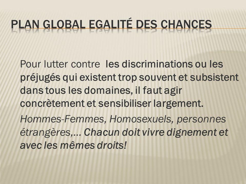 Pour lutter contre les discriminations ou les préjugés qui existent trop souvent et subsistent dans tous les domaines, il faut agir concrètement et se