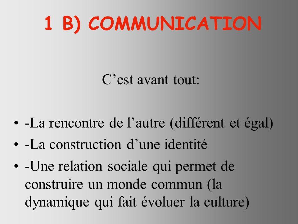 RESUME 1 Communication et économie solidaire ont le même horizon : Nouer des liens égalitaires entre altérités radicales pour construire un monde commun