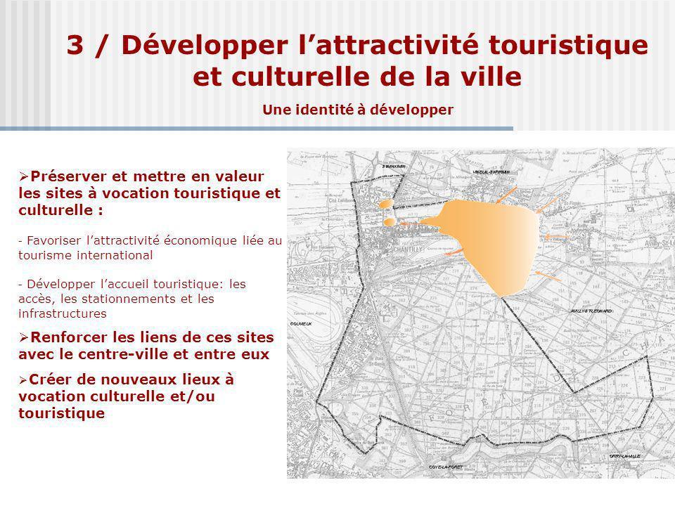 3 / Développer lattractivité touristique et culturelle de la ville Une identité à développer Préserver et mettre en valeur les sites à vocation touris