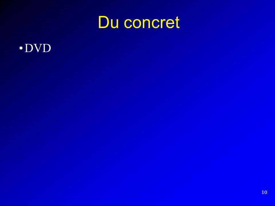 10 Du concret DVD