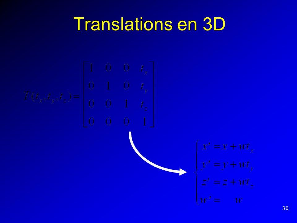 30 Translations en 3D