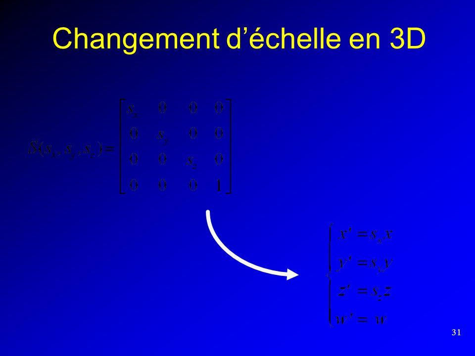 31 Changement déchelle en 3D