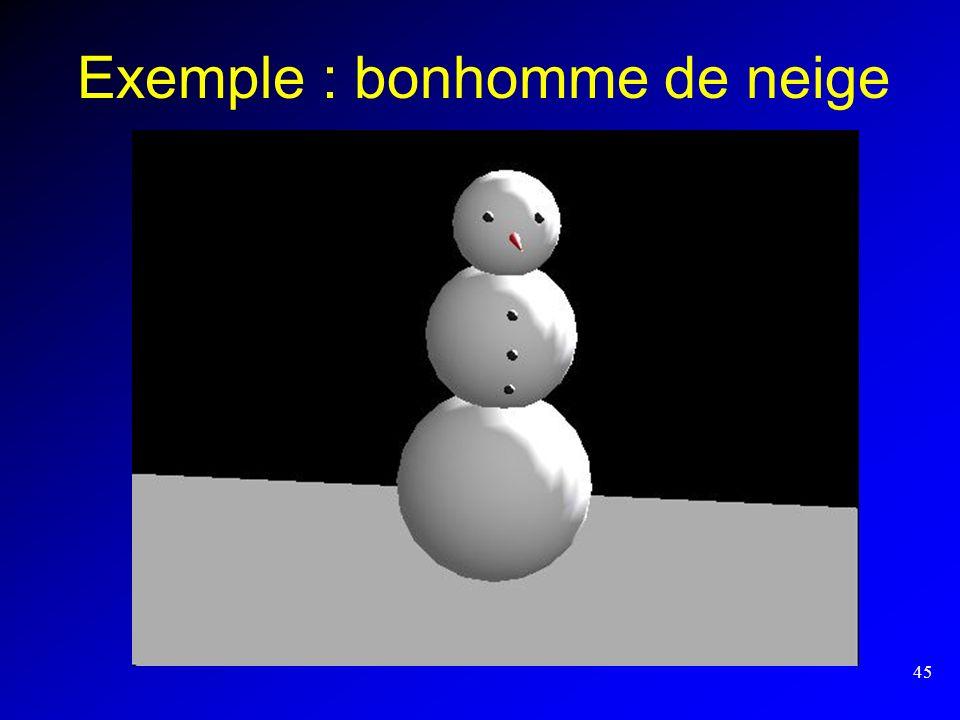 45 Exemple : bonhomme de neige