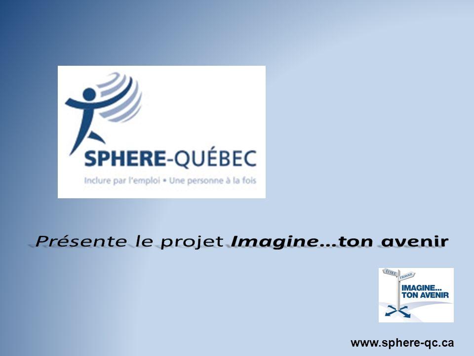 Plan de la rencontre Présentation de SPHERE-Québec Présentation du projet Imagine…ton avenir Les résultats actuels et à venir Période de questions