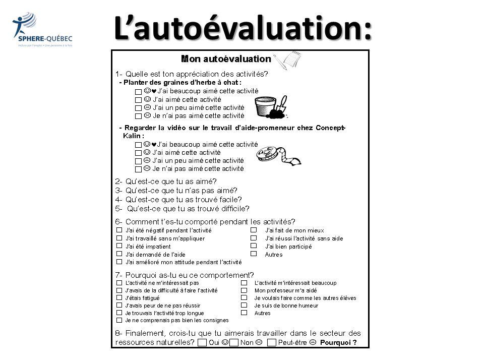 Lautoévaluation: