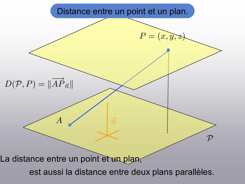 est aussi la distance entre deux plans parallèles.