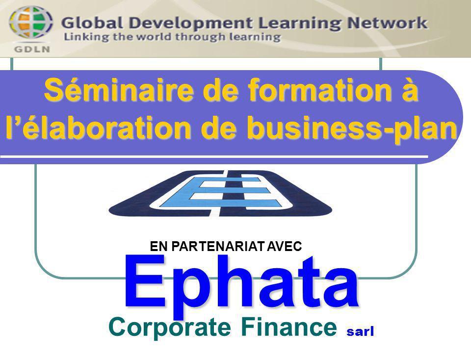 EPHATA Corporate finance Montpellier Business Pan MENU FICHIER MENU EDITION MENU AFFICHAGE Présentation du menu