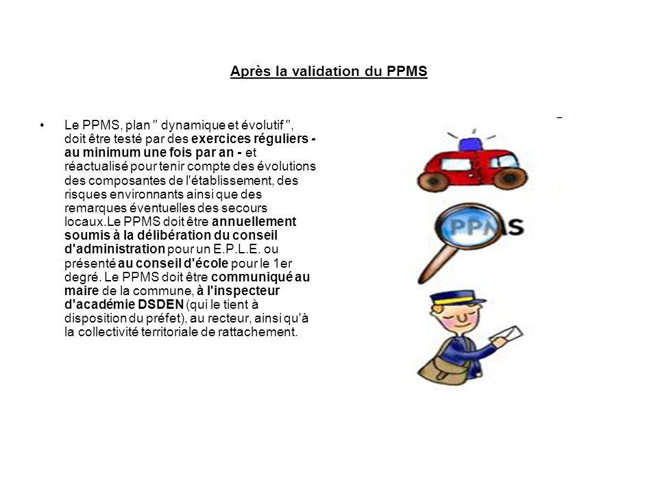 Après la validation du PPMS Le PPMS, plan