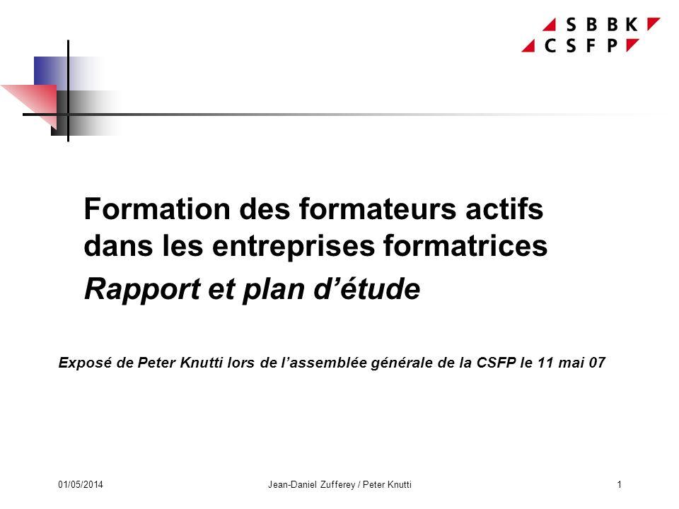 01/05/2014Jean-Daniel Zufferey / Peter Knutti12 6. Guide de certification