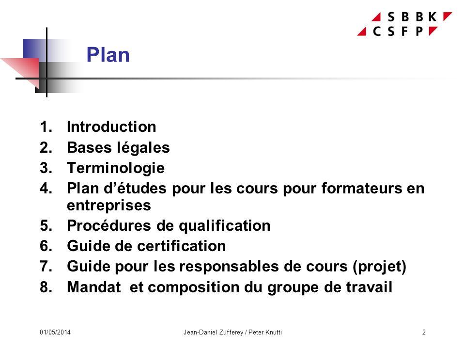 01/05/2014Jean-Daniel Zufferey / Peter Knutti3 1. Introduction
