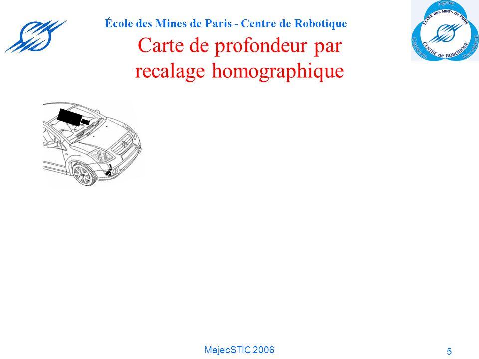 École des Mines de Paris - Centre de Robotique MajecSTIC 2006 5 Carte de profondeur par recalage homographique