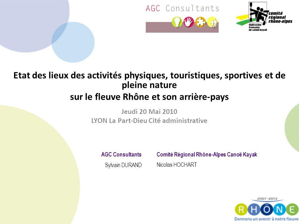 Constat et objectifs Constat – Peu de vision des activités le long du Rhône – Peu dapproche globale – Beaucoup dactivités saisonnières Appel à projet Rhône Alpes Tourisme durable Objectif – Connaître… – Se projeter… – Avoir une vision globale