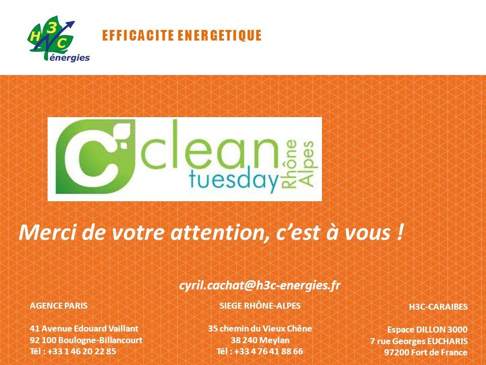 EFFICACITE ENERGETIQUE AGENCE PARIS 41 Avenue Edouard Vaillant 92 100 Boulogne-Billancourt Tél : +33 1 46 20 22 85 H3C-CARAIBES Espace DILLON 3000 7 r