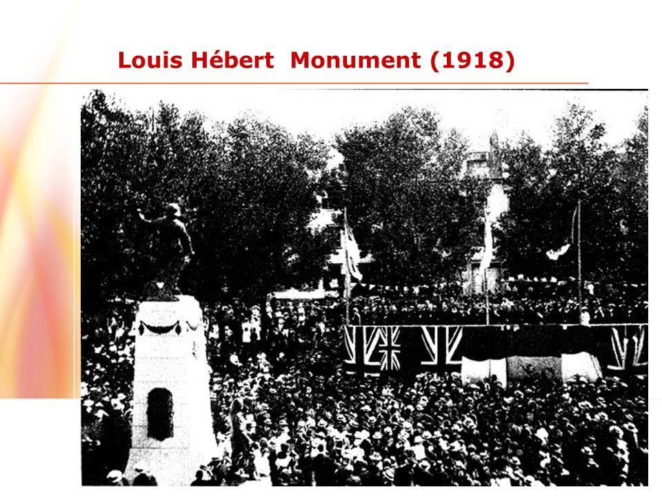 15 Louis Hébert Monument (1918)