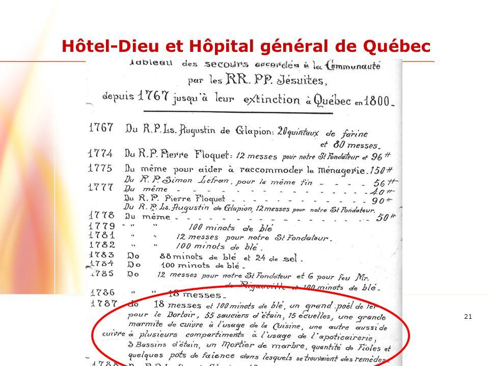21 Hôtel-Dieu et Hôpital général de Québec