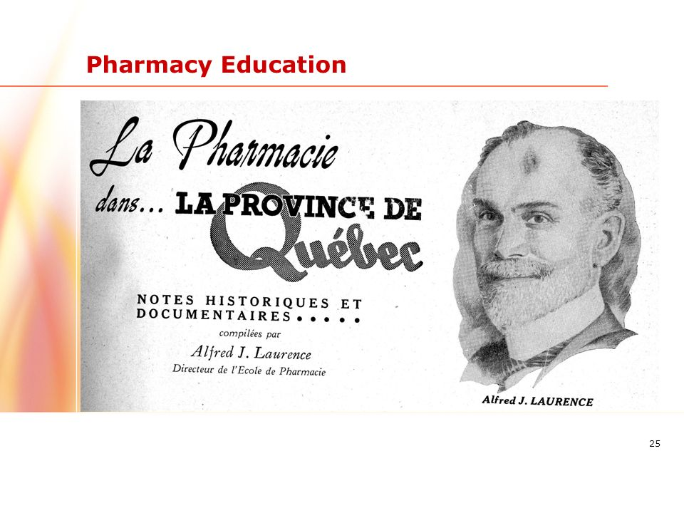 25 Pharmacy Education