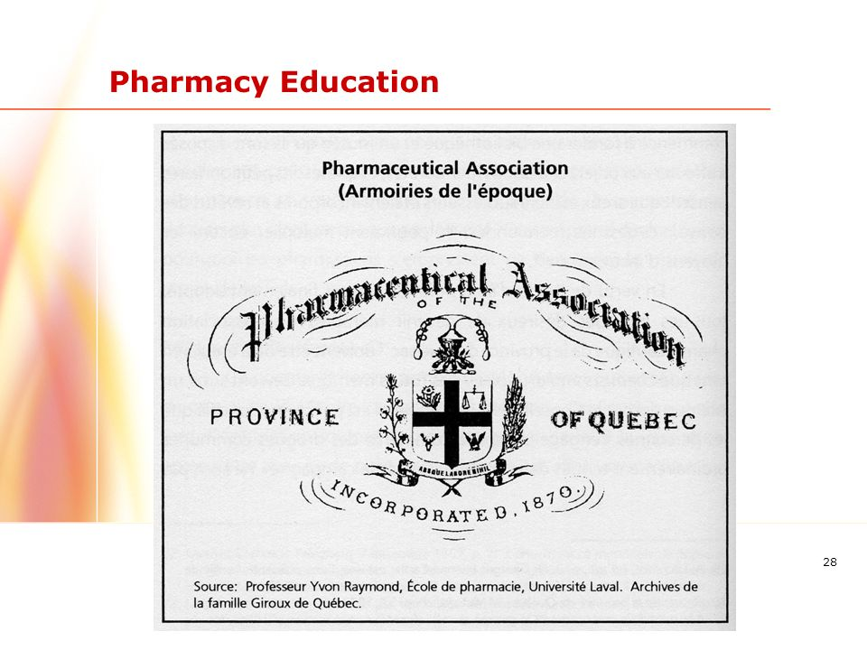 28 Pharmacy Education
