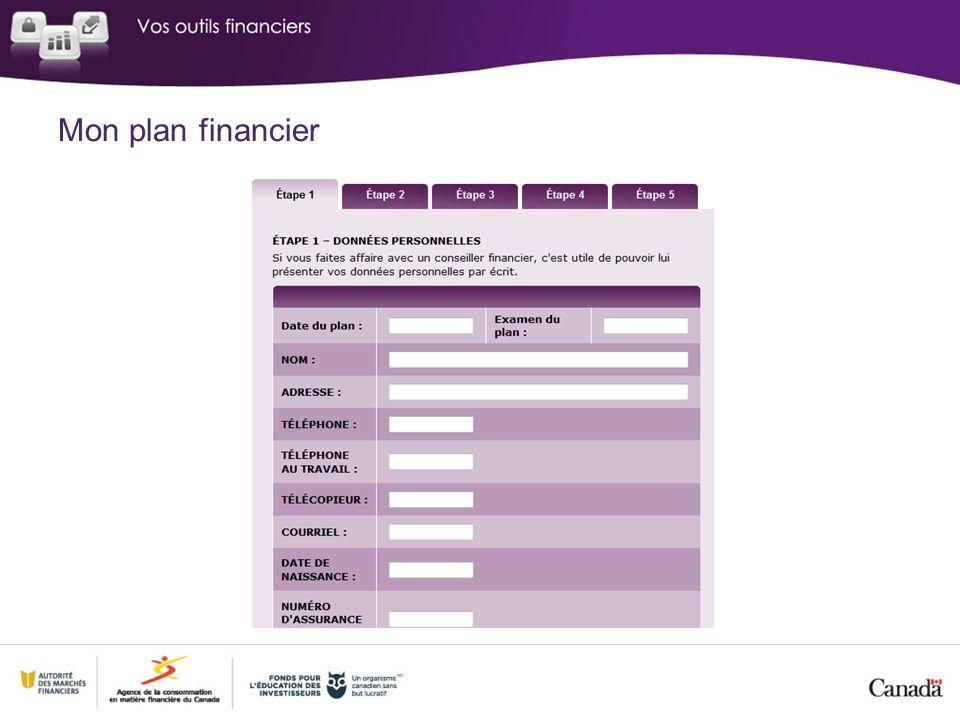 Mon plan financier