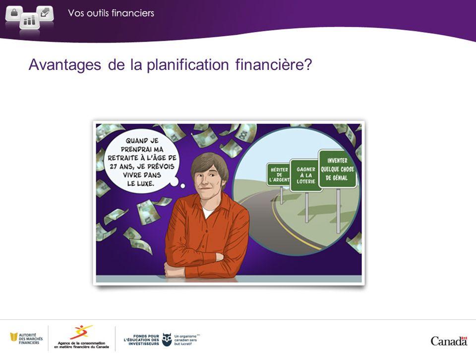 Avantages de la planification financière?