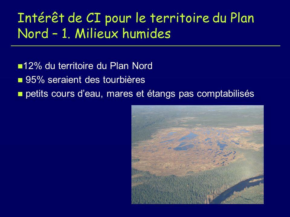 Intérêt de CI pour le territoire du Plan Nord – 1.