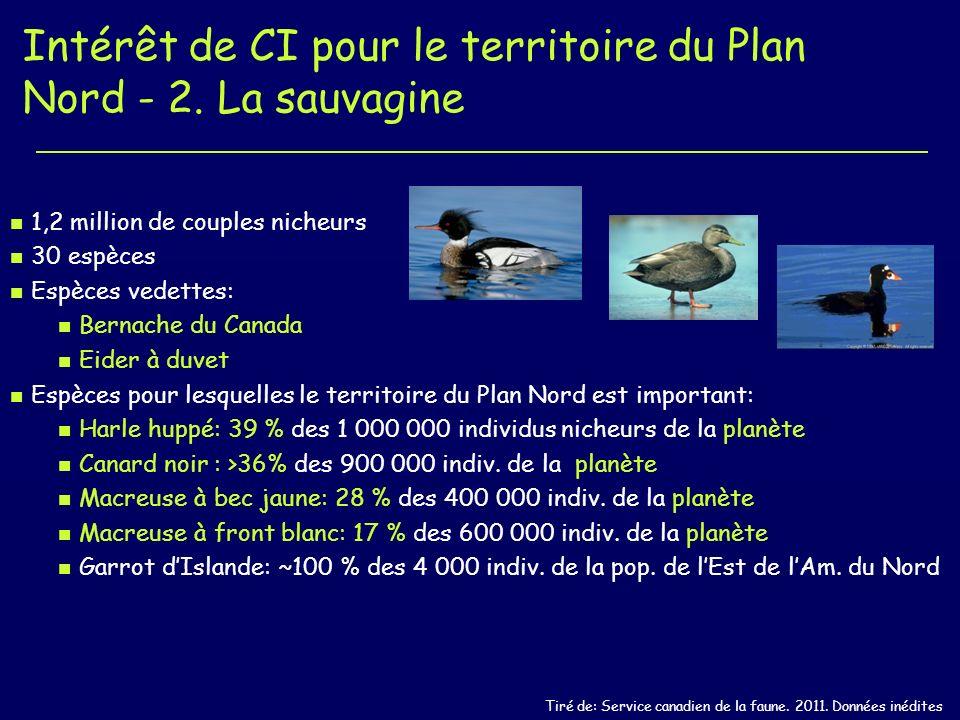 Intérêt de CI pour le territoire du Plan Nord - 2.
