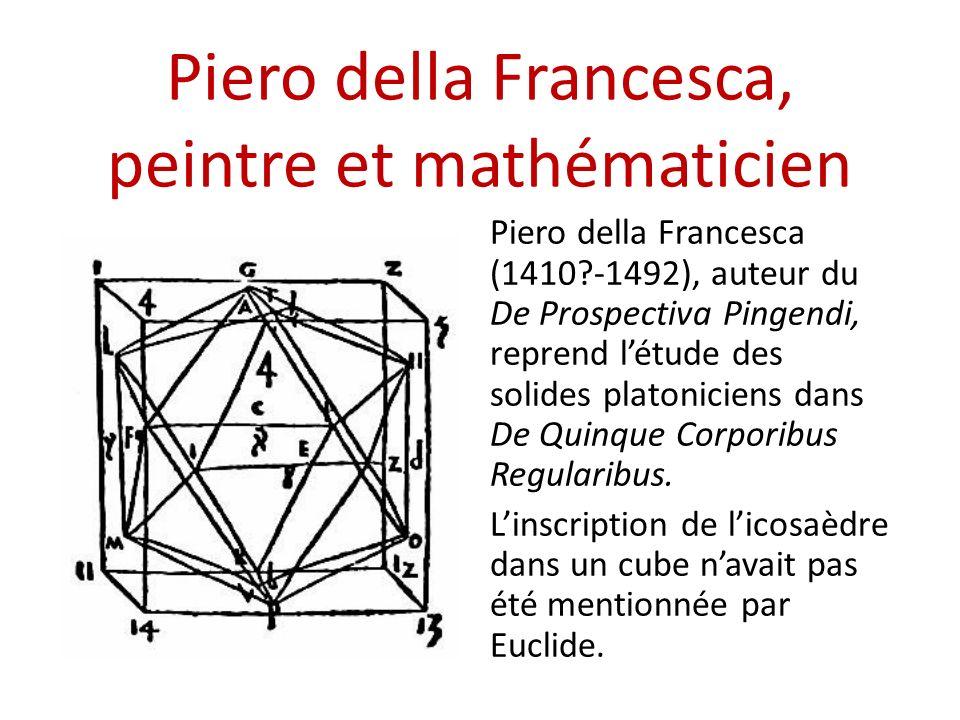 Piero della Francesca, peintre et mathématicien Piero della Francesca (1410?-1492), auteur du De Prospectiva Pingendi, reprend létude des solides plat