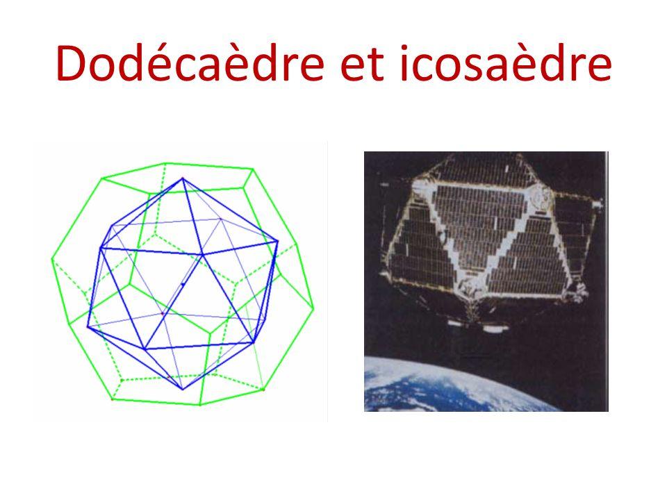 Etude de licosaèdre Cette vue montre licosaèdre composé de deux pyramides régulières à bases pentagonales et un antiprisme de base identique, et dont les faces sont des triangles équilatéraux.