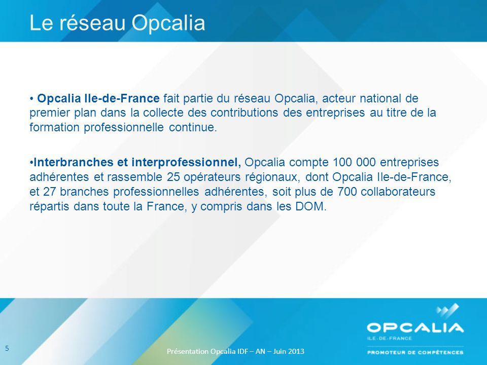 Le réseau Opcalia Opcalia Ile-de-France fait partie du réseau Opcalia, acteur national de premier plan dans la collecte des contributions des entrepri