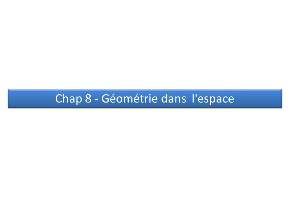 Chap 8 - Géométrie dans l'espace