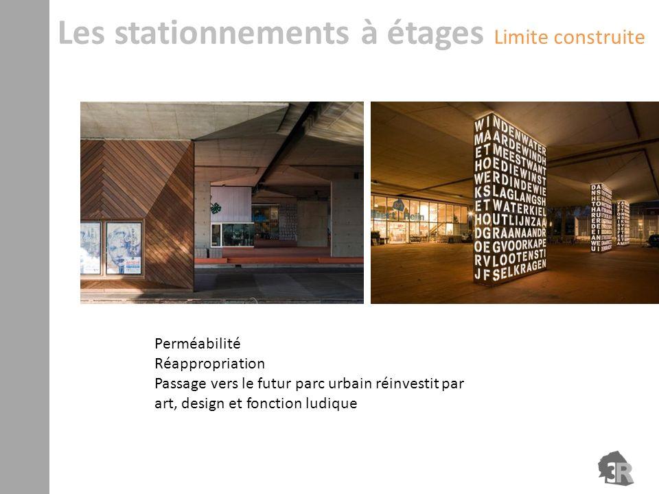 Perméabilité Réappropriation Passage vers le futur parc urbain réinvestit par art, design et fonction ludique