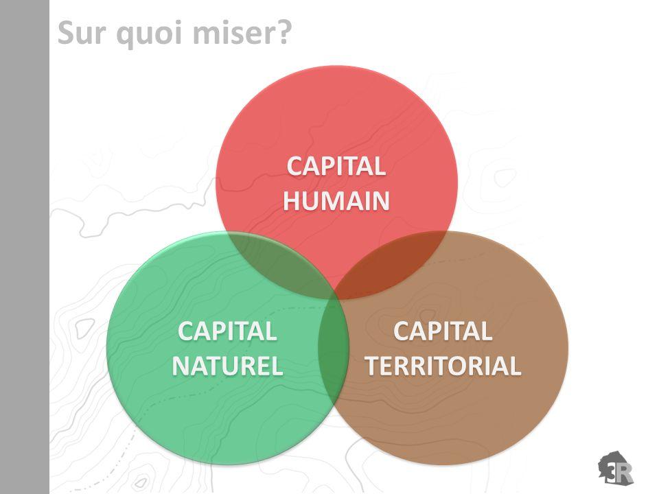 CAPITAL HUMAIN CAPITAL HUMAIN CAPITAL TERRITORIAL CAPITAL TERRITORIAL CAPITAL NATUREL CAPITAL NATUREL Sur quoi miser?