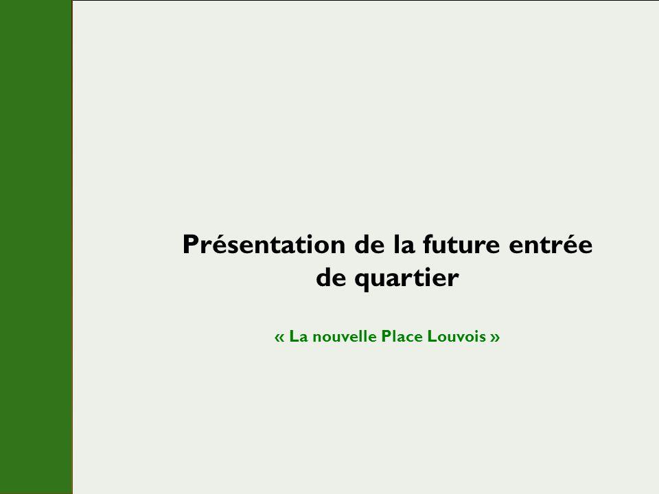 Présentation de la future entrée de quartier « La nouvelle Place Louvois »
