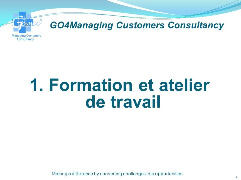 GO4Managing Customers Consultancy Offrir l excellence du service à nos clients 14