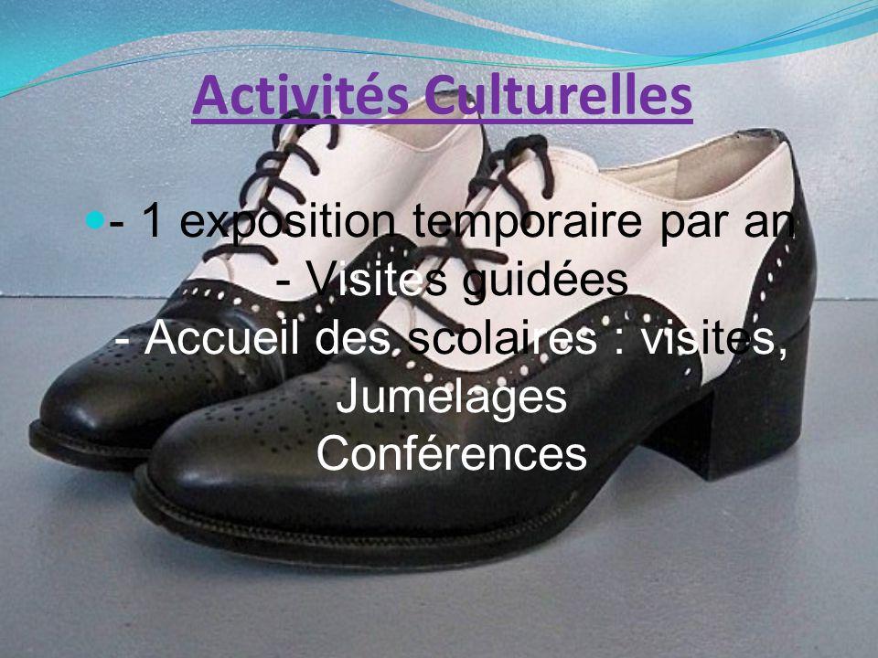 Activités Culturelles - 1 exposition temporaire par an - Visites guidées - Accueil des scolaires : visites, Jumelages Conférences