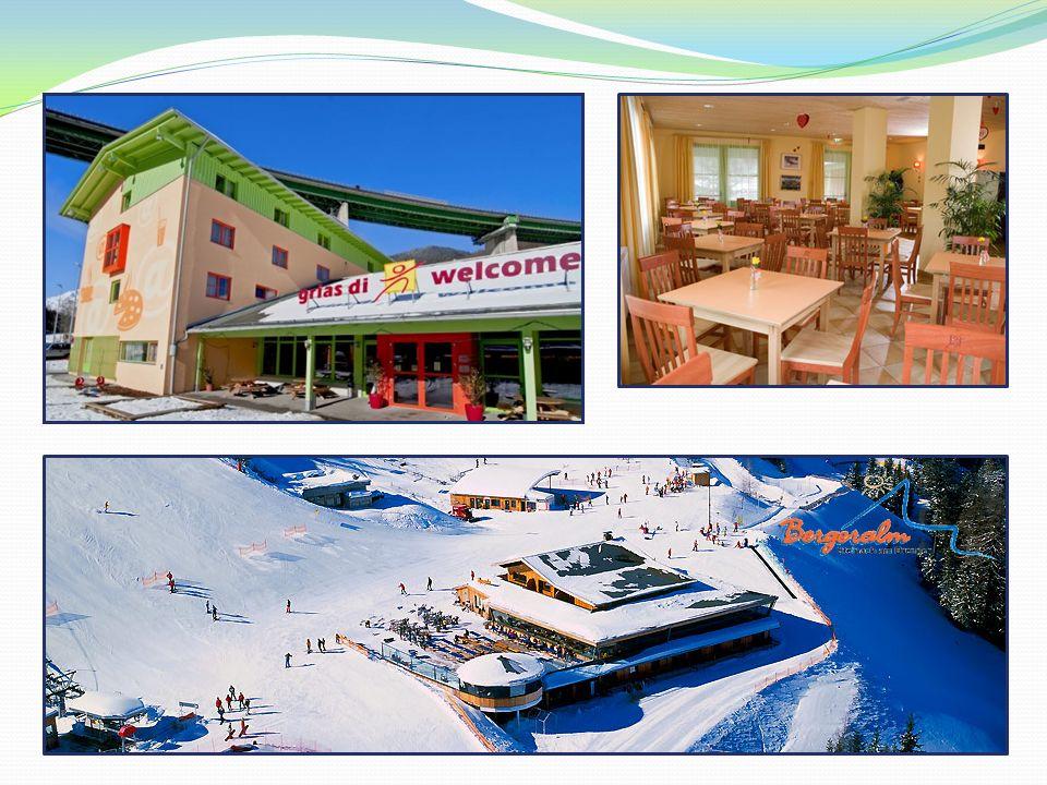 La première journée… Location du matériel auprès de lécole de ski Matériel de haute qualité (skis, chaussures, casques) Chaussures de ski et casques privés peuvent être emmenés => pas de skis Equipement rangé près de la piste