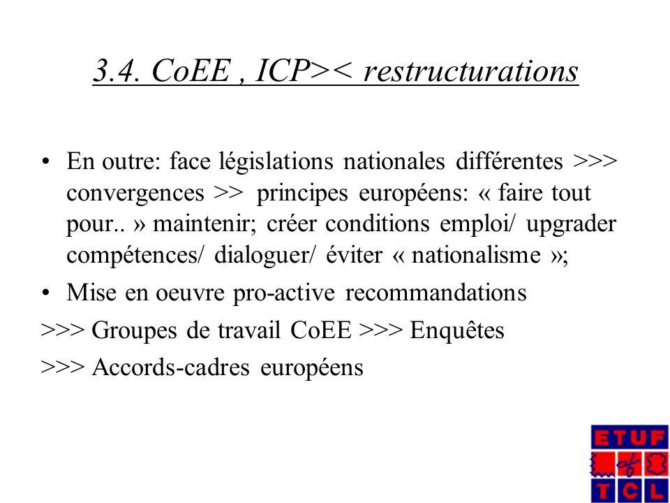 II.RSE et restructurations 3.4.